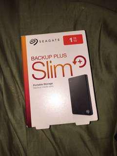 1TB Seagate Backup Plus Slim Hard drive