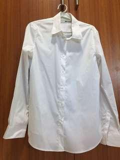 Uniqlo White Polo Long Sleeves