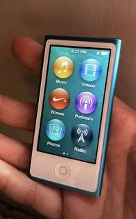 iPod Nano 7th Gen 16GB Blue
