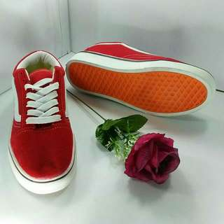Vans classic red white