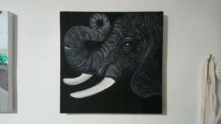 PAINTING ARTWORK - Elephant