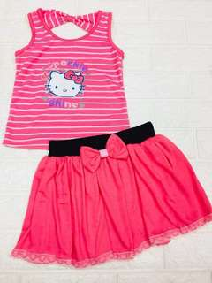 Hello Kitty Sando Top Palda Skirt Set