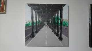 PAINTING ARTWORK - Pont de Bir-Hakeim