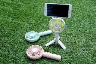 $99 | $129 | 手持風扇 | 顏值高 | 追劇不怕熱 | 手機支架 + 風扇