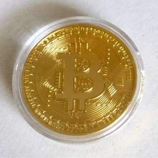BNIP CryptoCurrency Investor Summit Gold Bitcoin Souvenir (incl normal postage)