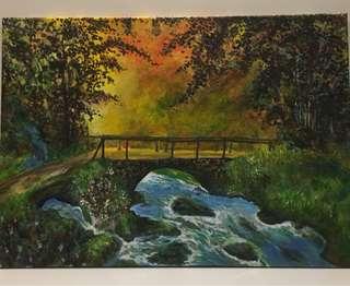 Acrylic painting - Morning Serenade