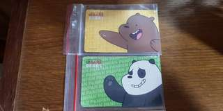 We Bare Bear Panda and Bear Ezlink