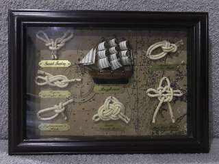 Knots for shipping (in a frame)