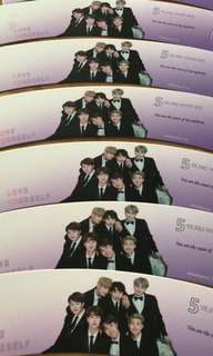 BTS 5th Anniversary Cup Sleeves