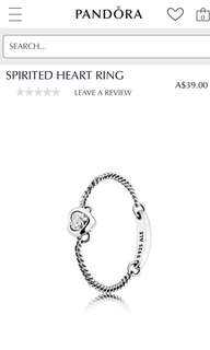 PANDORA RING - SPIRITED HEART
