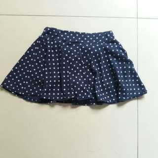🚚 深藍點點圓裙/短裙