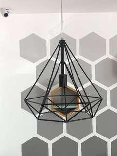 Geometric Lamp w/ lightbulb (not in photo)