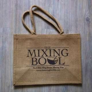(半價) MIXING BOWL Linen Tote Yoga Gym Grocery Shopping Bag 麻布袋 實用袋 購物袋 (Half Price)