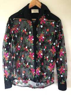 Floral blouse size 8