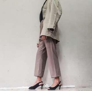 Light brown highwaist trousers
