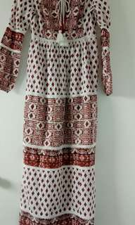 Boho style long dress AUS size 6