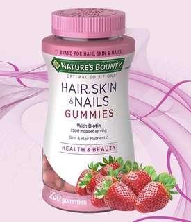 🇺🇸🇺🇸Nature's Bounty Hair Skin & Nail Gummies