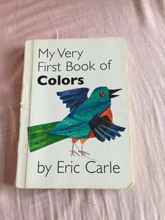 Eric Carle my first books of colors baby kids book 兒童書 繪本