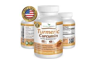 [IN-STOCK] Nature's Branched Best EXTRA STRENGTH Turmeric Curcumin with BioPerine Black Pepper Extract 100% Natural Turmeric Root Powder Supplement For Inflammation Joint Pain Relief 90 Tumeric And Black Pepper Capsules