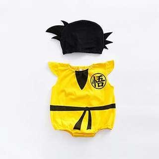 FREE MAIL Dragon ball kungfu baby costume
