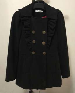 Wool coat jacket black size 10 winter thick RRP $170