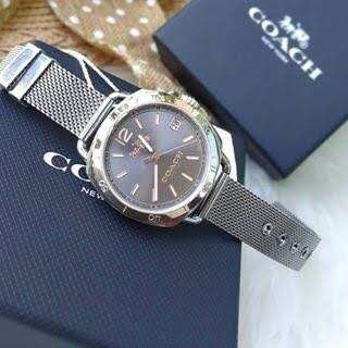 Authentic Coach tatum watch grey stainless steel