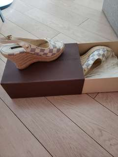 LV wedge sandals