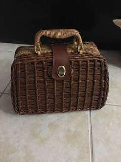Pristine Basket Purse Vintage perfect condition