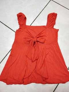 🚚 全彈上衣 橘紅色【#女裝半價拉】