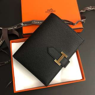 Hermes Bearn short Wallet 黑金Epsom 短銀包 C刻