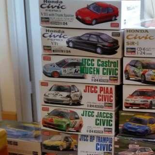 1/24 EG9/EG8 模型車六盒