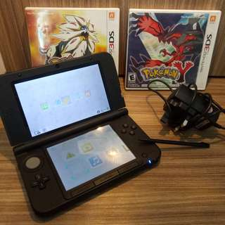 Nintendo 3DS XL (with 2 ori pokemon games)