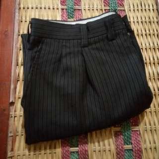 R181 Celana Panjang Stripes Formal Kerja Pria Size 33 Black