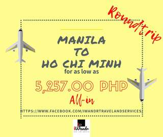 MANULA TO HO CHI MINH ROUNDTRIP ALL-IN (AIR FARE ONLY)