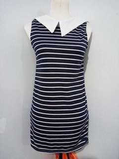 Stripe Top w/collar