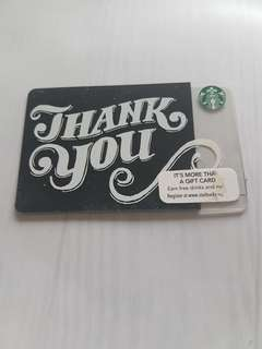 50 SGD Starbucks Card Unregistered!