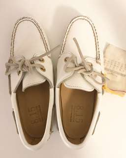NEW Women's Sz 6 White Leather Boat Shoes