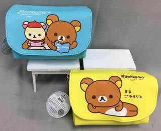 🚚 正版授權 SAN-X RILAKKUMA 拉拉熊 PU側背包 斜背包 兩款