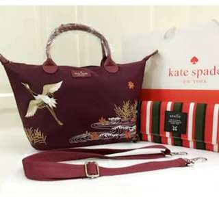 Kate Spade bag bundled with Anello long size wallet