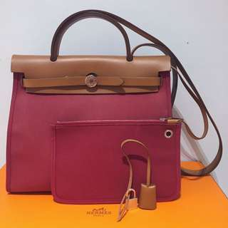 Hermes Herbag 31 Ruby Shoulder Bag 愛馬仕大熱款式