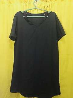Cut-out Tshirt Dress