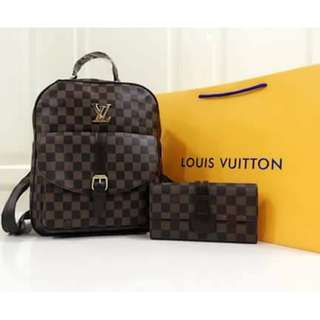 Louis Vuitton Back Pack with pouch