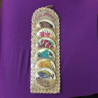 杯墊(菲律賓購買)可作掛飾可墊杯有原裝膠包着,折開色凙更鮮美