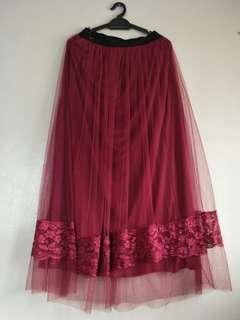 Long Tutu Skirt With Linning