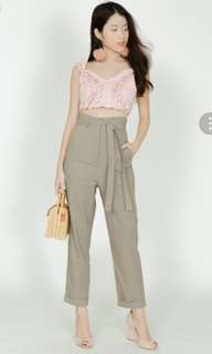 MDS BNWT Self tie pants in Taupe.