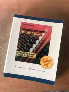 Microelectronic circuit design by Richard c. Jaeger Travis N. blalock international student edition