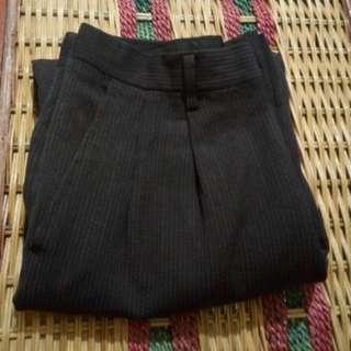 B171 Celana Panjang Formal Kerja Stripes Pria Size 28 Black
