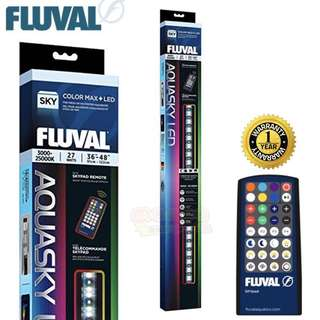 3ft Fluval Aquasky Colour & Weather LED 27W (RGB plus W) with Controller 36 - 48inch
