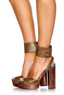 Camilla- Khaki Platform Heel Size 38