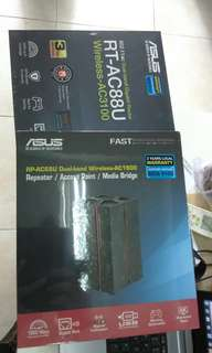 Pre-loved ASUS Router and Repeater/ Access Point for sale
